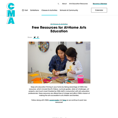 Free Resources for At-Home Arts Education - Children's Museum of the Arts New York
