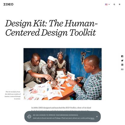 Design Kit: The Human-Centered Design Toolkit