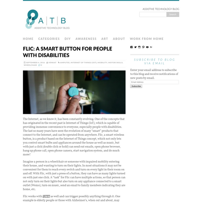 Flic: A Smart Button For People With Disabilities - Assistive Technology Blog