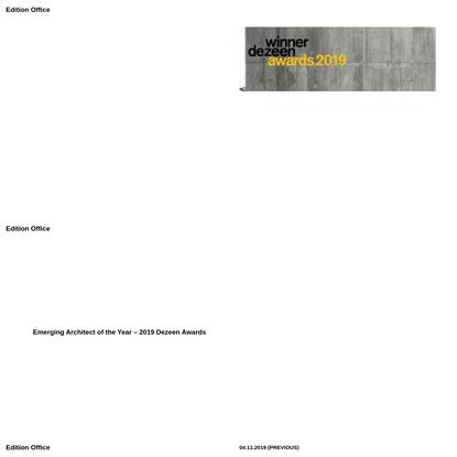 Edition Office - Architecture Studio