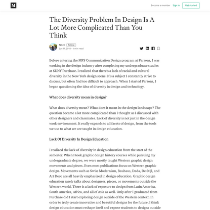 The Diversity Problem In Design Is A Lot More Complicated Than You Think
