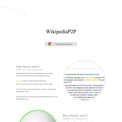 WikipediaP2P, contribute to Wikipedia in a completely new way