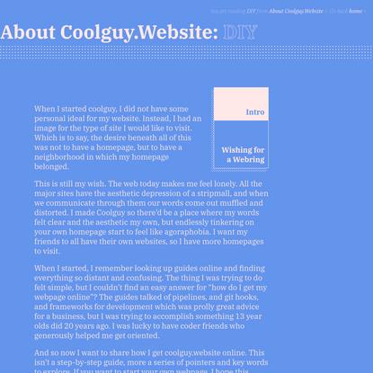 About Coolguy.Website