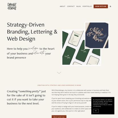 Dmarzdesigns   Lettering, Branding & Squarespace Web Design