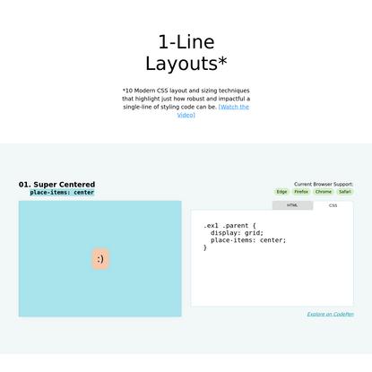 1-Line Layouts