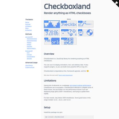 Checkboxland
