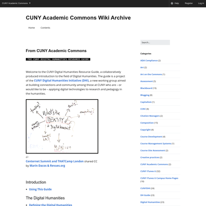 CUNY Academic Commons Wiki Archive