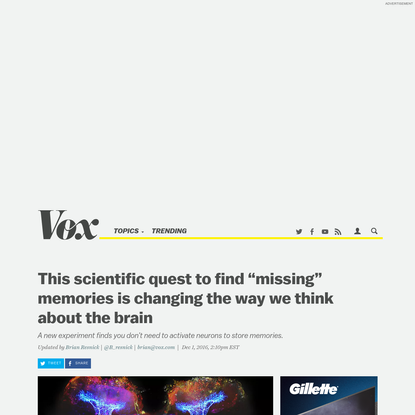 """This scientific quest to find """"missing"""" memories is changing the way we think about the brain"""