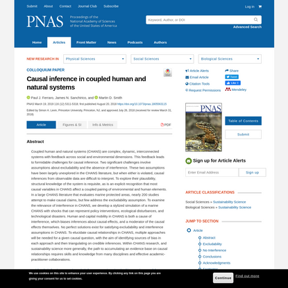 Causal inference in coupled human and natural systems
