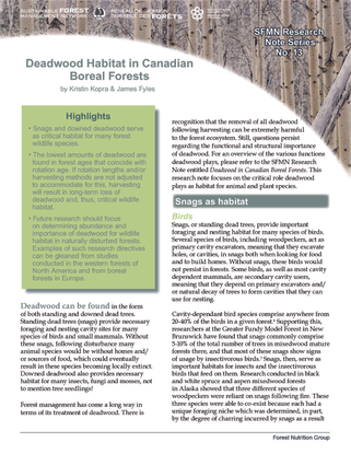 Deadwood Habitat in Canadian Boreal Forests