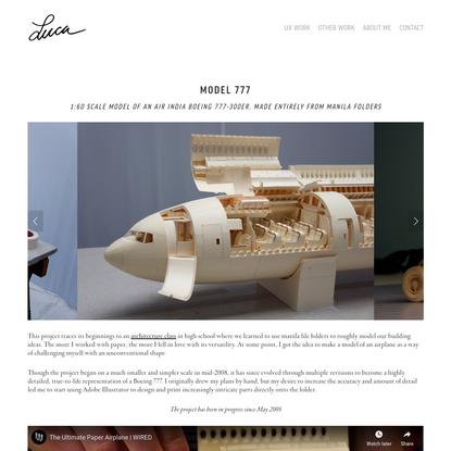 Model 777 — Luca Iaconi-Stewart