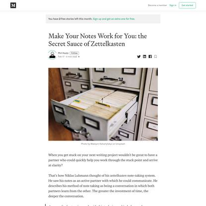 Make Your Notes Work for You: the Secret Sauce of Zettelkasten