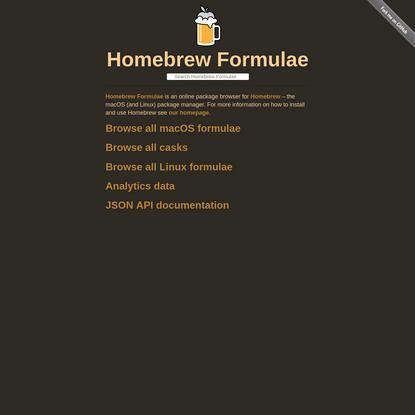 Homebrew Formulae