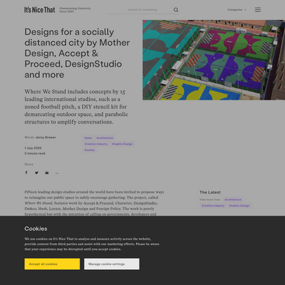 Designs for a socially distanced city by Mother Design, Accept & Proceed, DesignStudio and more