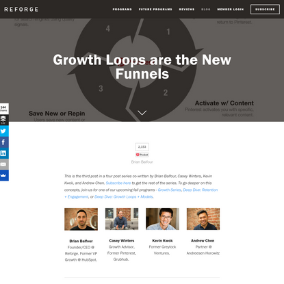Growth Loops are the New Funnels - Reforge