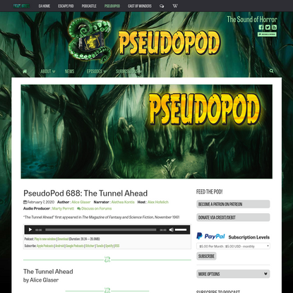 PseudoPod 688: The Tunnel Ahead - PseudoPod