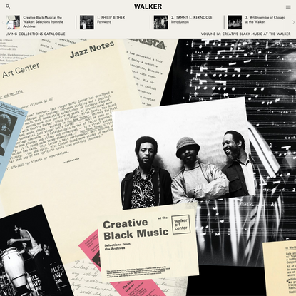 Creative Black Music at the Walker: Selections from the Archives