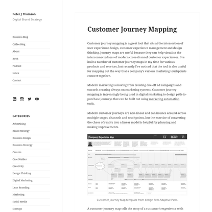 Customer Journey Mapping - Peter J Thomson