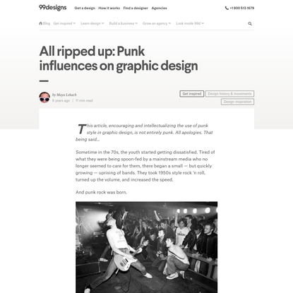 All ripped up: Punk influences on graphic design - 99designs
