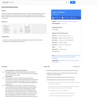 US20110228943A1 - Data Embedding System - Google Patents