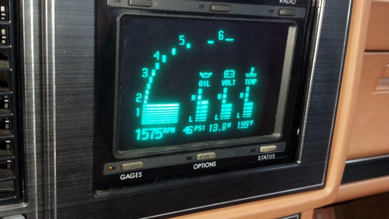 Buick Reatta touch screen interface