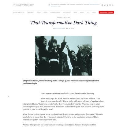 That Transformative Dark Thing