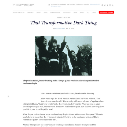 That Transformative Dark Thing