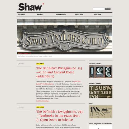 Paul Shaw Letter Design
