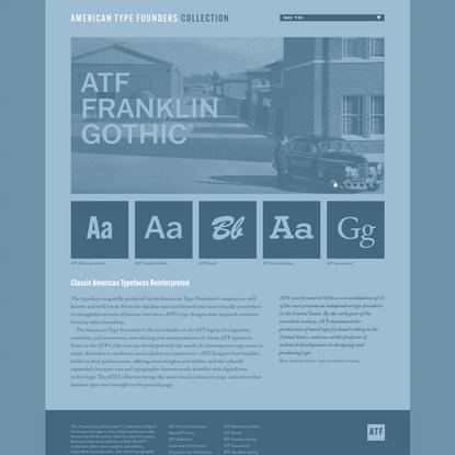 Classic American Typefaces Reinterpreted