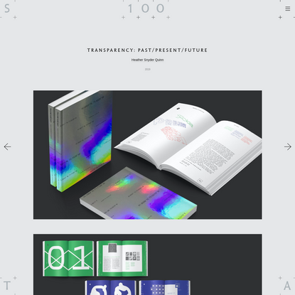 STA 100 - Transparency: Past/Present/Future