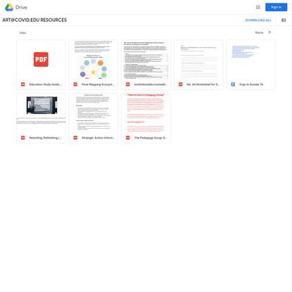 ART@COVID.EDU RESOURCES - Google Drive