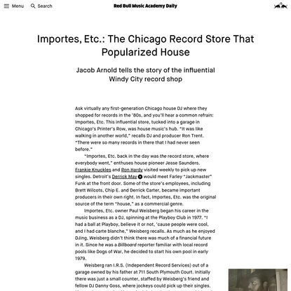 The Chicago Record Store That Helped Birth House   Red Bull Music Academy Daily