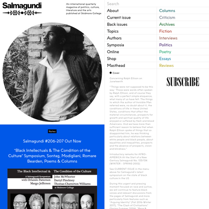 Home - Salmagundi Magazine