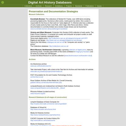 Digital Art History Databases