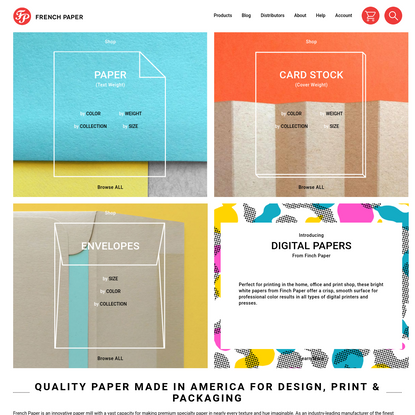 French Paper | Specialty Paper & Quality Card Stock