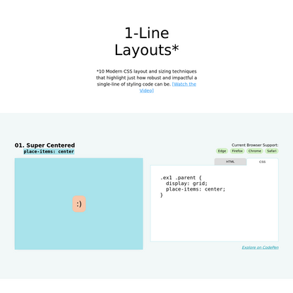 1-Line Layouts