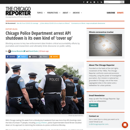 Chicago Police Department arrest API shutdown is its own kind of 'cover up'