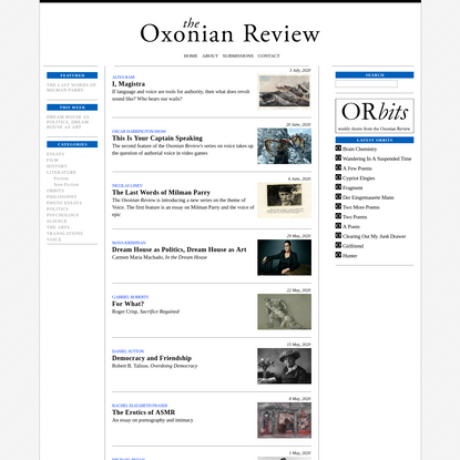 The Oxonian Review