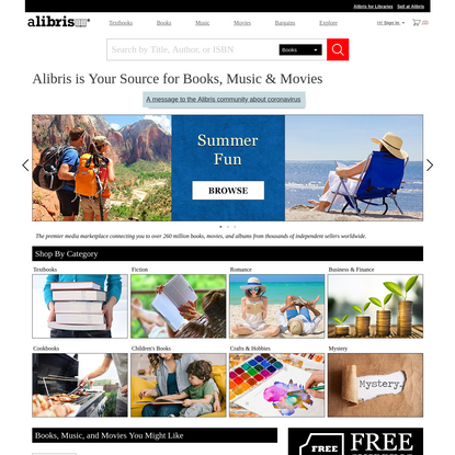 Alibris.com: Save on New, Rare & Used Books - Movies & Music