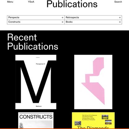 Publications - Yale Architecture