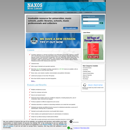 Naxos Music Library - Invaluable Resource for Music Enthusiasts and Collectors