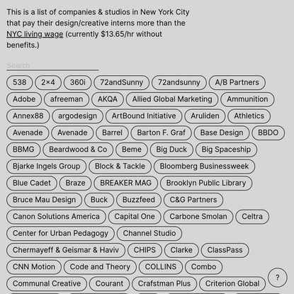 NYC Paid Creative Internships