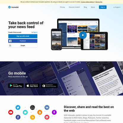 Inoreader - Take back control of your news feed