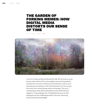 The garden of forking memes: how digital media distorts our sense of time
