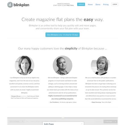 Blinkplan is everyone's favourite magazine flat plan app