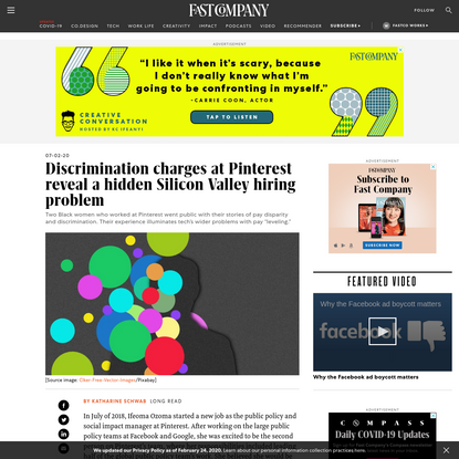 Discrimination charges at Pinterest reveal a hidden Silicon Valley hiring problem