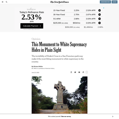 Opinion   This Monument to White Supremacy Hides in Plain Sight