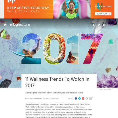 11 Wellness Trends to Watch in 2017