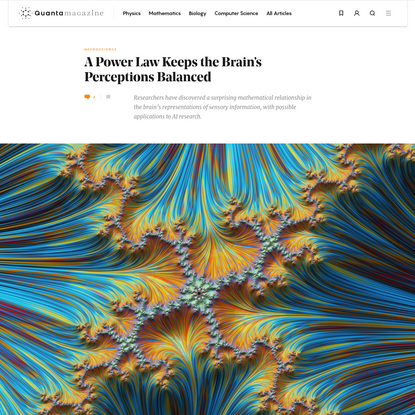 A Power Law Keeps the Brain's Perceptions Balanced   Quanta Magazine