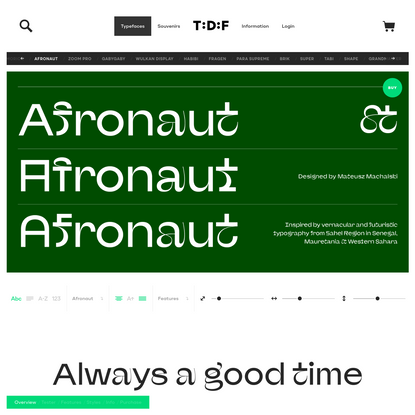 Afronaut | The Designers Foundry